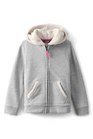 School Uniform Little Girls Sherpa Lined Hoodie