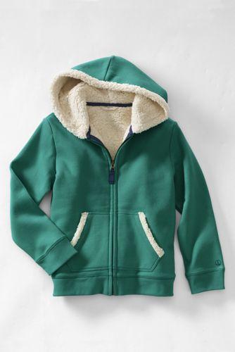 Le Hoodie Zippé Doublé de Polaire Sherpa, Petite Fille