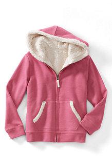 Girls' Long Sleeve Sherpa Hoodie
