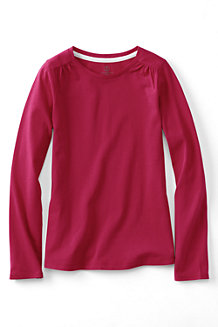 Girls' Gathered Shoulder Tee