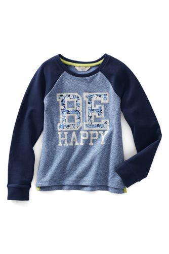 Little Girls' Space Dye Graphic Sweatshirt