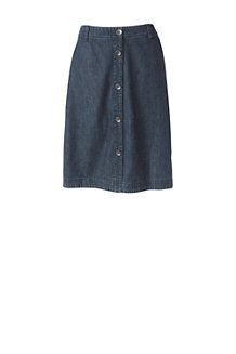 Women's Button Front Denim Skirt