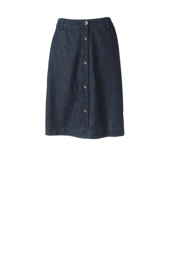 Women's Regular Button Front Denim Skirt