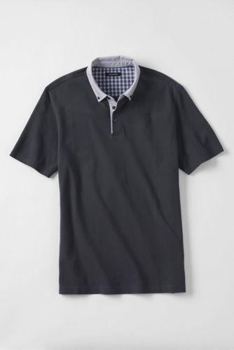 Men's Regular Woven Collar Supima® Piqué Polo