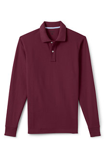 Men's Long Sleeve Piqué Polo