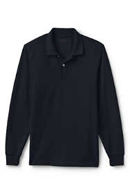 Men's Tall Mesh Long Sleeve Polo Shirt
