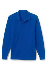 Men's Mesh Long Sleeve Polo Shirt