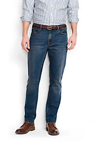 Mens Custom-length Traditional Fit Jeans - 30 Lands End 1K5uh