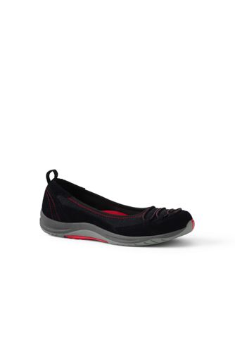 Womens Regular Bungee Ballets - 4.5 - BLACK Lands End uGQwhkt