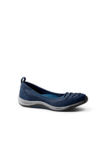Lands' End Les Mocassins Confort Casual en Cuir, Homme Pieds Standards - Marron - 45