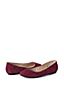 Women's Regular Quilted Suede Ballet Shoes