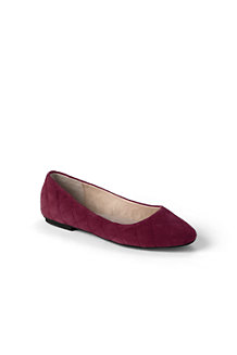 Women's Quilted Suede Ballet Shoes