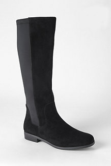 Women's Suede/Stretch Boots