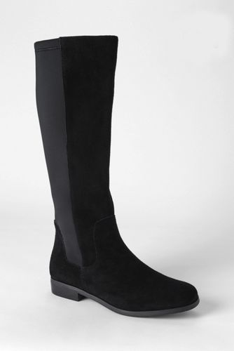 Women's Regular Suede/Stretch Boots