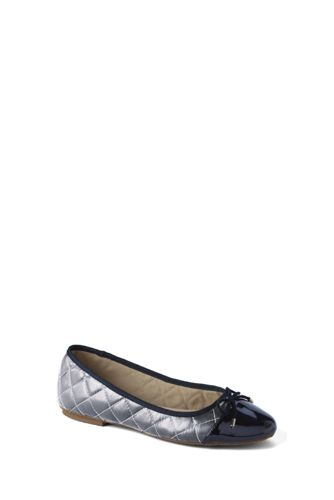 Girls' Quilted Ballet Pumps