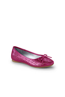 Girls' Perforated Ballet Shoes