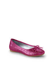 Girls Perforated Ballet Shoes