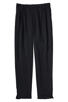 Girls' Drapey Twill Trousers