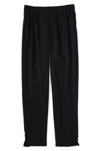 Little Girls' Drapey Twill Trousers