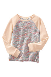 Girls' Long Sleeve French Terry Boucle Sweatshirt