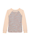 Little Girls' Long Sleeve French Terry Boucle Sweatshirt