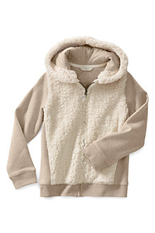 Girls' Hoodie with Sherpa Body