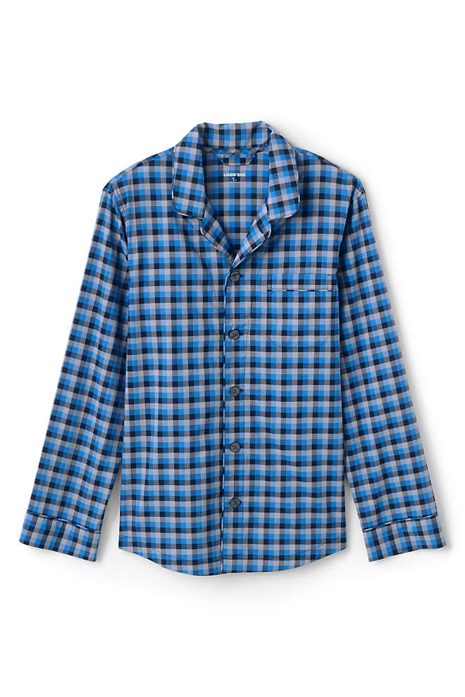 Men's Broadcloth Pajama Shirt, Front