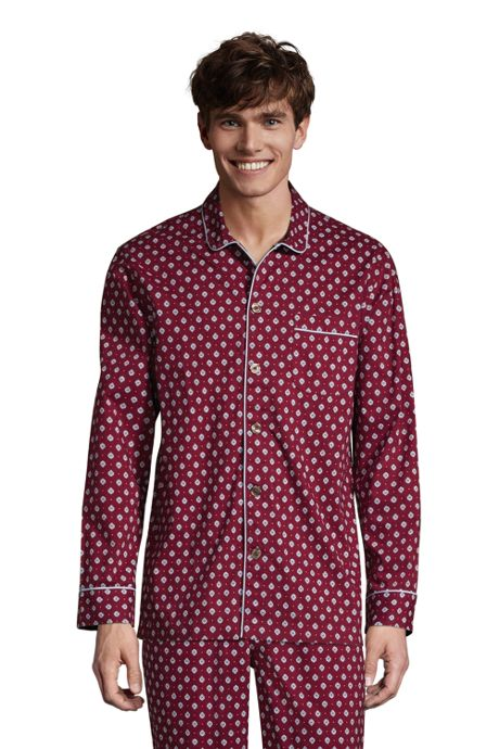 Men's Tall Broadcloth Pajama Shirt