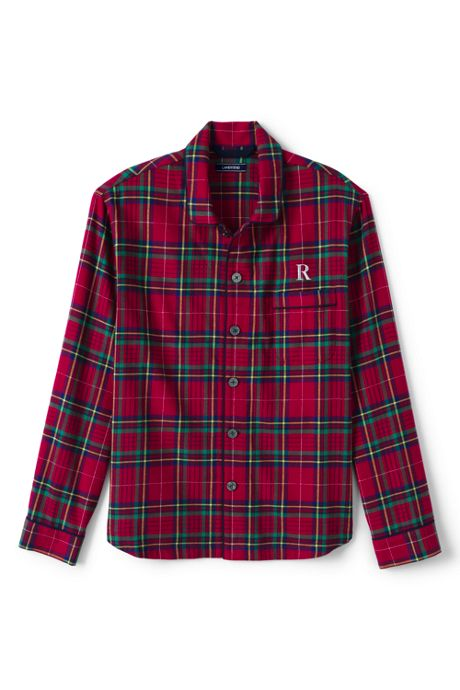 Men's Tall Flannel Pajama Shirt