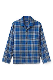 Men's Flannel Pajama Shirt, Front