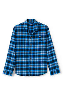 Men's Tall Flannel Pajama Shirt, Front