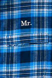 Men's Tall Flannel Pajama Shirt, alternative image