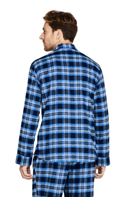 Men's Tall Flannel Pajama Shirt