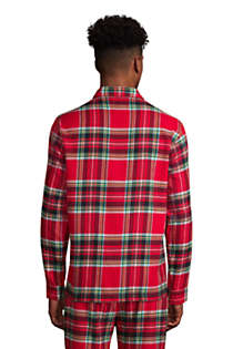 Men's Flannel Pajama Shirt, Back