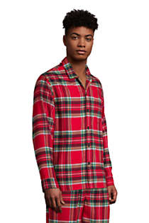 Men's Flannel Pajama Shirt, alternative image