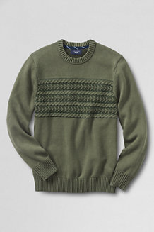 Men's Chest Cable Drifter™ Cotton Sweater