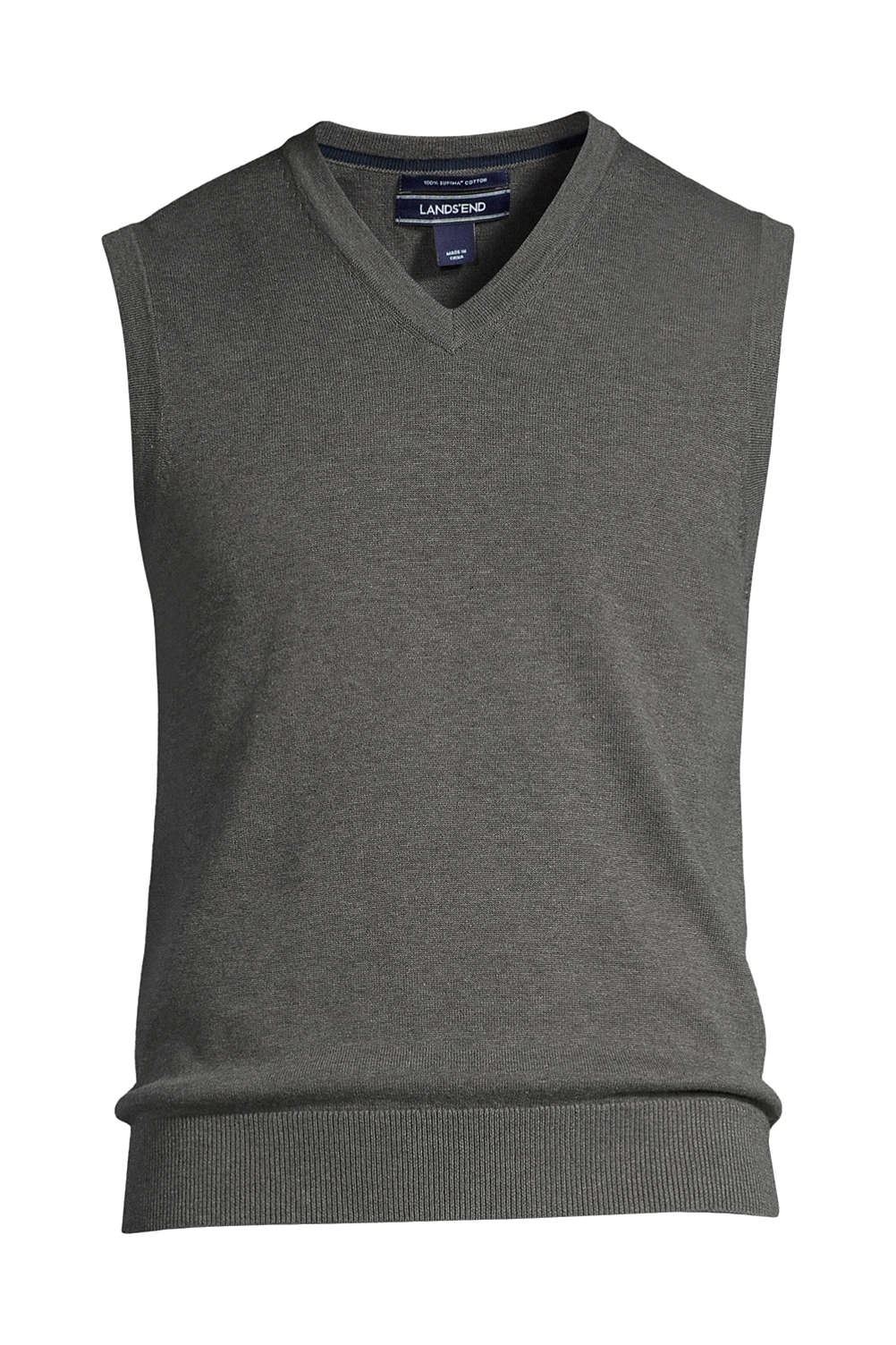 6664fb4bbf73 Men's Supima Cotton Sweater Vest from Lands' End