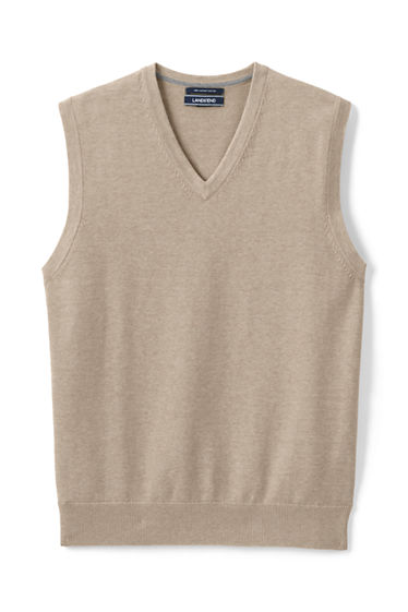 Men's Supima Cotton Sweater Vest from Lands' End