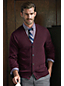 Men's Regular Fine Gauge Tipped V-neck Cardigan