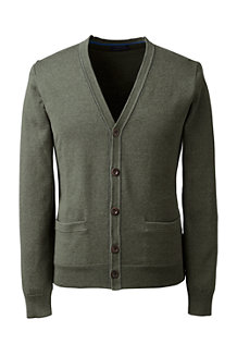 Men's Fine Gauge Tipped V-neck Cardigan