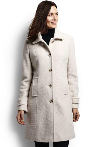Le Manteau de Luxe en Laine Tissée Femme, Taille Standard