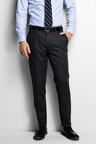 Land's End Slim Fit Plain Front Year Round Trousers 460701