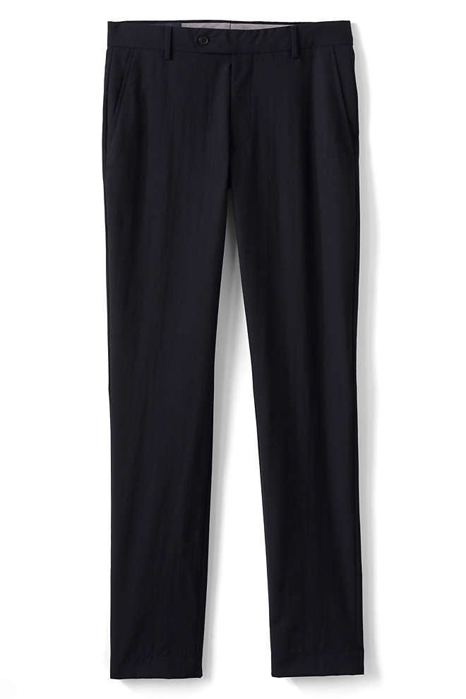 Men's Slim Fit Year'rounder Wool Dress Pants, Front