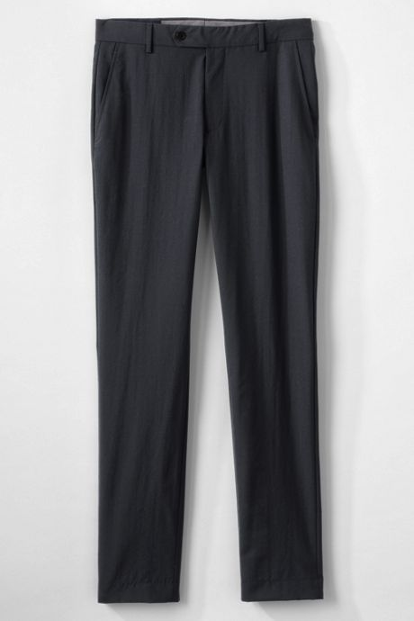 Men's Slim Fit Year'rounder Wool Dress Pants