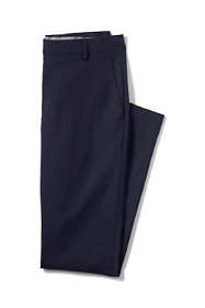 Men's Slim Fit Plain Front Year'rounder Wool Trousers