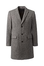 Lands' End Abraham Moon Wool Peak Lapel Topcoat 463801