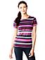 Le T-Shirt Performance Rayé à Manches Courtes, Femme Taille Standard