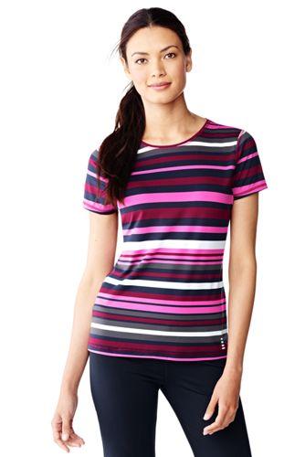 Activewear T-Shirt Gestreift