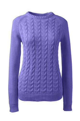 Women's Plus Drifter™ Cable Crew Neck Jumper