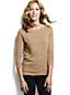 Women's Supima®Three-Quarter Sleeve Floral Jacquard Crew Neck